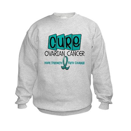 CURE Ovarian Cancer 1 Kids Sweatshirt
