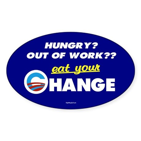 Eat Your Change Oval Sticker