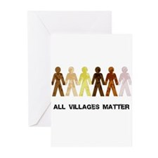 Riyah-Li Designs All Villages Matter Greeting Card