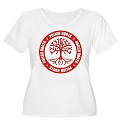 Polish Roots Women's Plus Size Scoop Neck T-Shirt