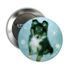 "Tri-Color Puppy 2.25"" Button"
