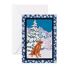 Winter Wonderland Irish Setter Greeting Cards (Pk