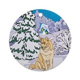 Winter Wonderland Husky Ornament (Round)