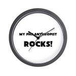MY Philanthropist ROCKS! Wall Clock