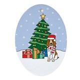 Welsh Springer Christmas Oval Ornament