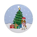 Welsh Springer Christmas Ornament (Round)