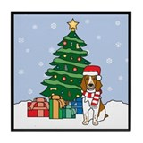 Welsh Springer Christmas Tile Coaster