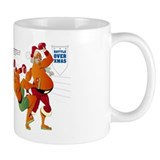 Battle Over Christmas: Santa vs. Jesus Mug