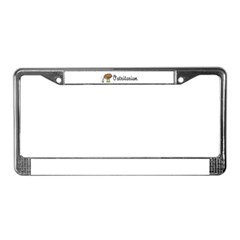 Ostrich Ostritarian License Plate Frame
