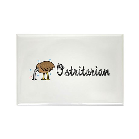Ostrich Ostritarian Rectangle Magnet (100 pack)
