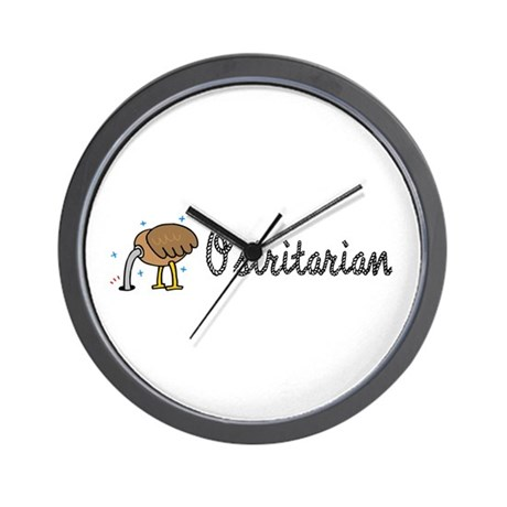 Ostrich Ostritarian Wall Clock