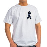 Police Vets Ribbon Ash Grey T-Shirt