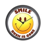 SMILE! Bush is gone Wall Clock