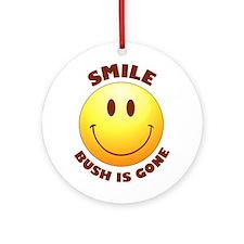 SMILE! Bush is gone Ornament (Round)
