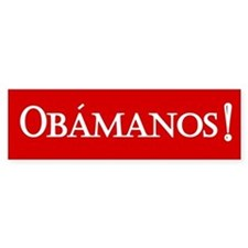 Obamanos in red Bumper Stickers