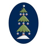 Obama Christmas Ornament Oval Ornament