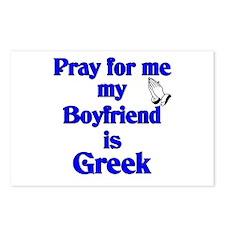 Pray for me my Boyfriend is Greek Postcards (Packa