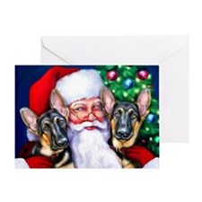 Santa's GSD Christmas Greeting Card