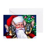 Santa's GSD Christmas Greeting Cards (Pk of 20)