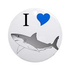 I Love Sharks Keepsake (Round)