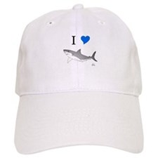 I Love Sharks Baseball Cap