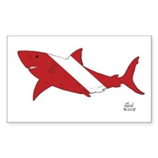 Shark Dive Rectangle Decal