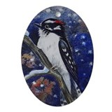 Woodpecker Oval Ornament
