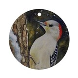 Woodpecker Christmas Ornament