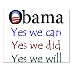 Obama: Yes we will Small Poster