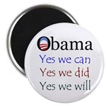 Obama: Yes we will Magnet