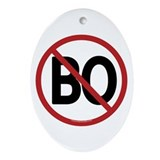 No BO - NObama Oval Ornament