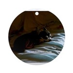 Darkside of Precious the DOG Ornament (Round)