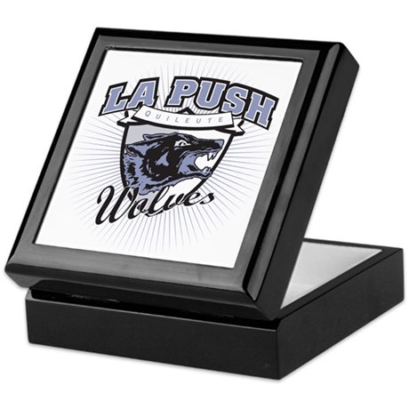 La Push Wolves Emblem (blue gray) Keepsake Box