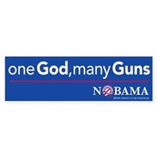 one God, many Guns, sticker