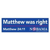 Matthew was right, sticker