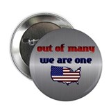 "Out of Many, We are One- Obama 2.25"" Button (100 p"