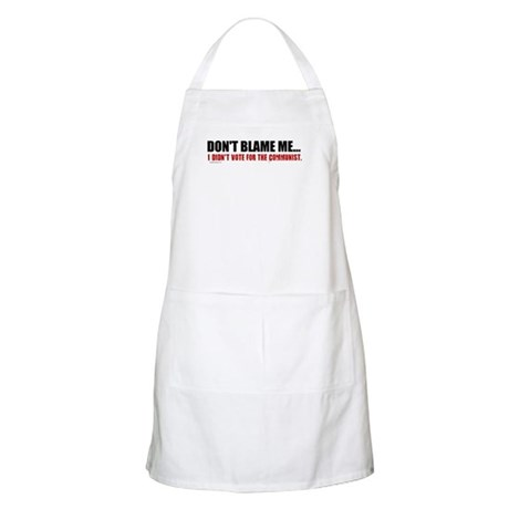 I Didn't Vote For The Communist BBQ Apron
