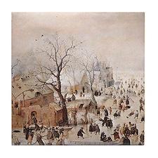 Avercamp Winter Landscape Decorative Tile Coaster