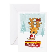 Cranky Santa Dog Greeting Cards (Pk of 10)