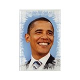 Obama Frosted Rectangle Magnet