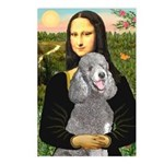 Mona Lia/Std Poodle (silver) Postcards (Package of