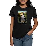 Mona Lia/Std Poodle (silver) Women's Dark T-Shirt