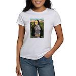 Mona Lia/Std Poodle (silver) Women's T-Shirt