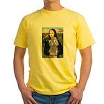 Mona Lia/Std Poodle (silver) Yellow T-Shirt