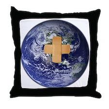 Cute Band aid Throw Pillow