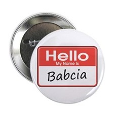 "Hello, My name is Babcia 2.25"" Button (10 pack)"