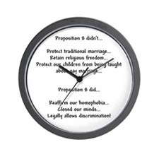No on prop 8 - Wall Clock