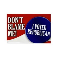 I voted Republican Rectangle Magnet