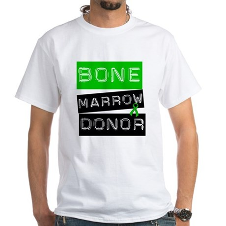 Bone Marrow Donor (Label) White T-Shirt