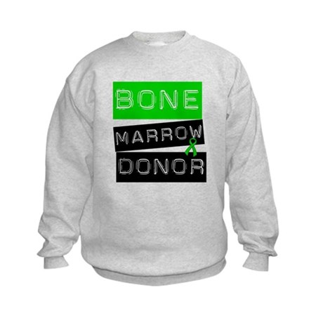 Bone Marrow Donor (Label) Kids Sweatshirt